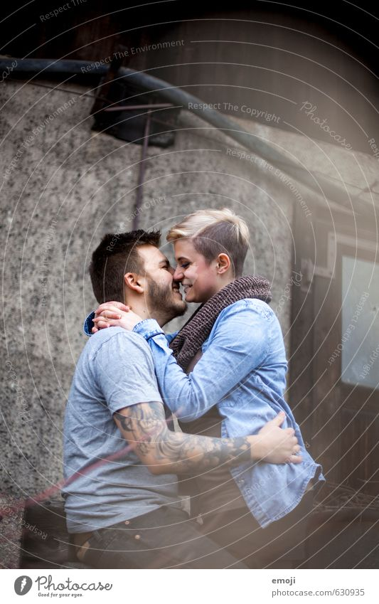 :-) Masculine Feminine Young woman Youth (Young adults) Young man Couple 2 Human being 18 - 30 years Adults Hip & trendy Beautiful Uniqueness Infatuation Lovers