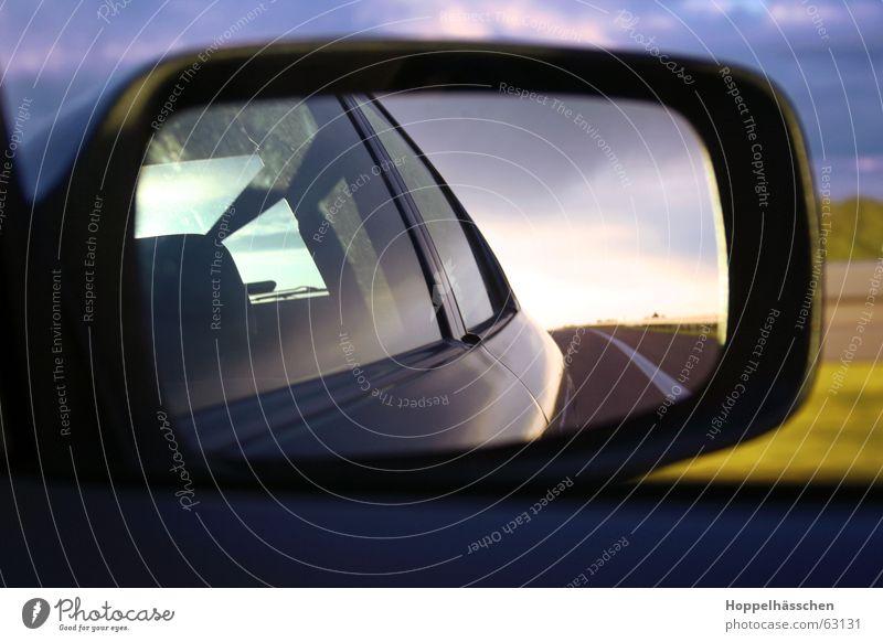 Blue Cold Car Landscape Mirror