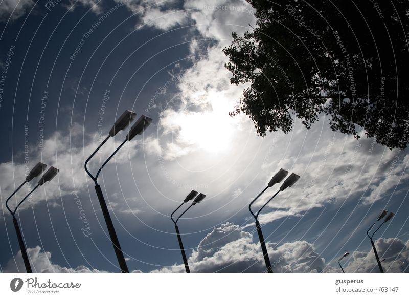 Sky Blue Leaf Clouds Lamp Air Lantern False Gorgeous