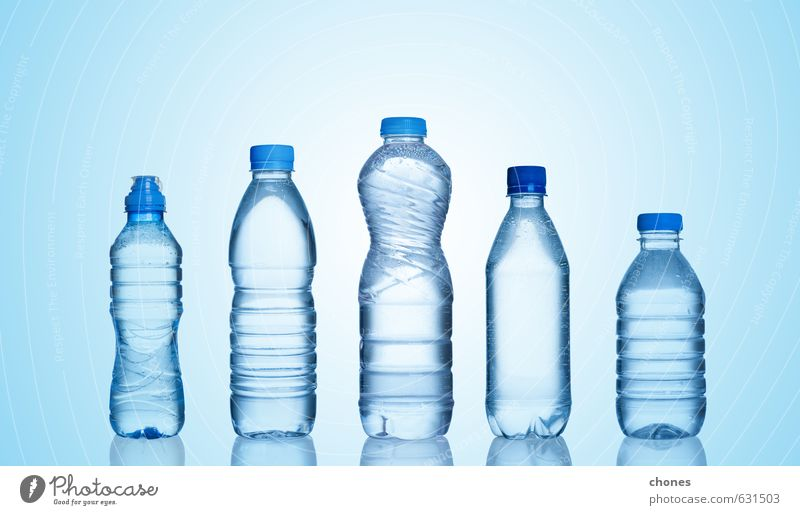 Plastic bottles Blue Water Natural Exceptional Group Health care Fresh Wet Beverage Clean Cool (slang) Drop Pure Fluid Refreshment