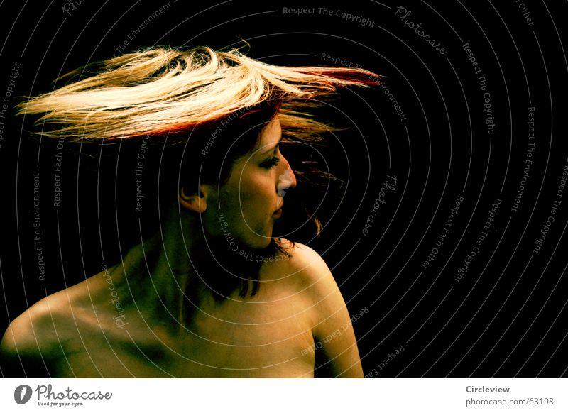 Woman Joy Black Hair and hairstyles Power Body Skin Blaze Speed Energy industry Leisure and hobbies Tension Swing Disaster