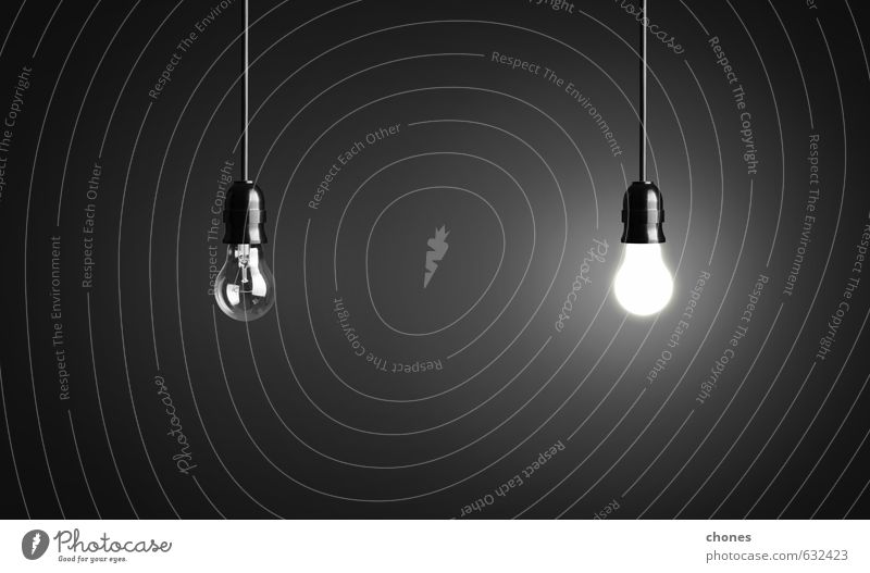 Light bulbs on black background Black Lamp Bright Design Photography Energy Technology Creativity Idea Symbols and metaphors Illuminate Household Vertical