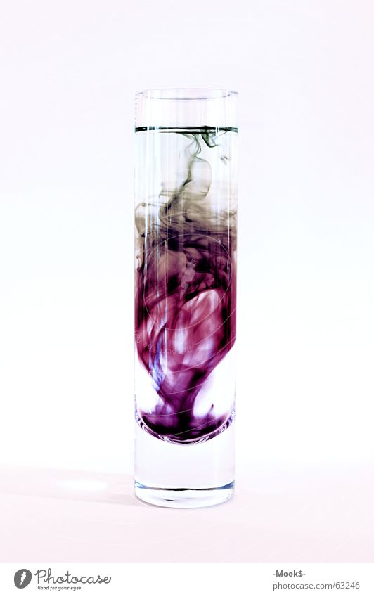 ink mix Ink Multicoloured Dreary Heavy Violet Transparent Glass Bright wise Water