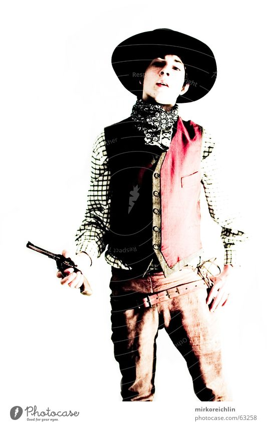 The Cowboy 7 Boy (child) Man Handgun Rifle Wild Criminal sherif revolover Hat bigway West Vest Force