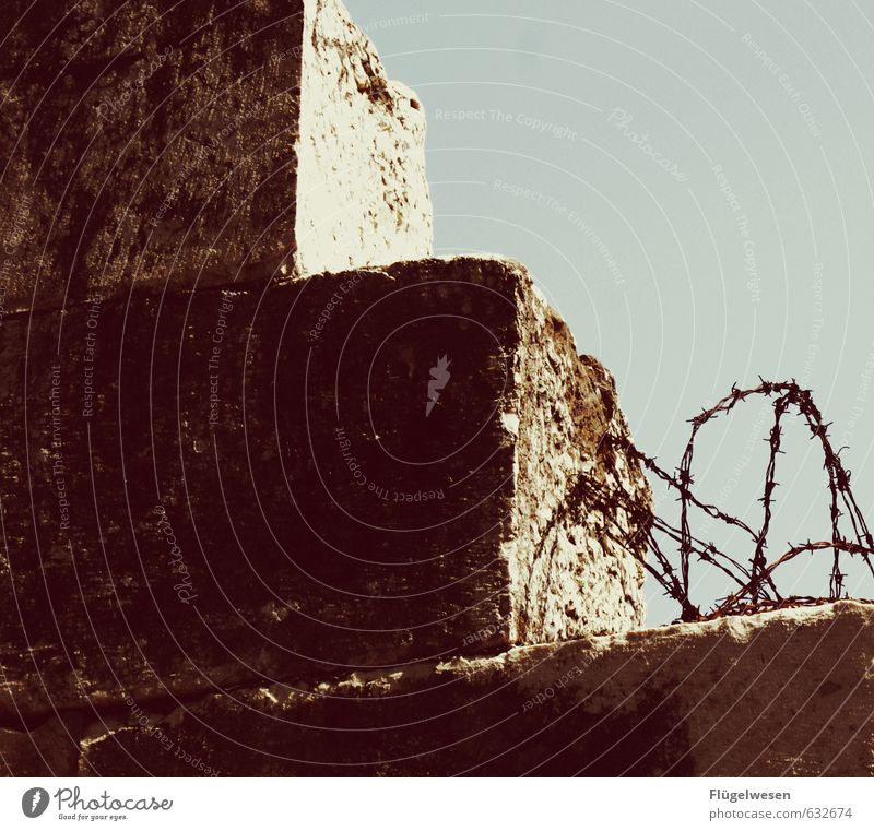 Vacation & Travel Far-off places Wall (barrier) Freedom Stone Trip Adventure Border Hunting Captured Escape Fight Penitentiary Homesickness East German border guard Barbed wire