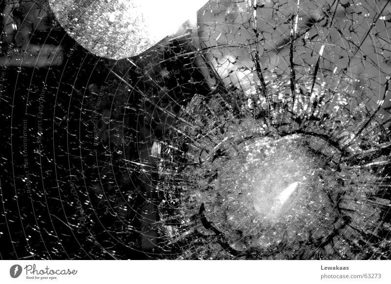 jumps Fragile Transparent Black White Light Shop window Nuremberg Destruction Splinter Shard Criminality Jewellery Store premises Hope Glass Crystal structure