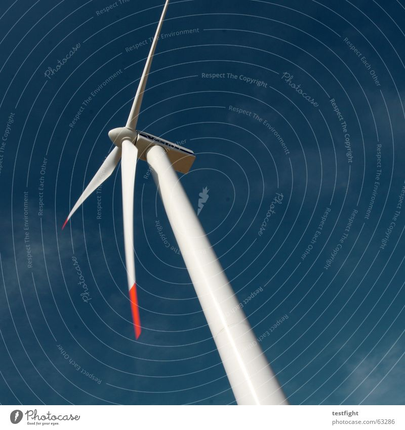Sky Blue Movement Wind Environment Energy industry Electricity Wind energy plant Ecological Alternative Renewable energy