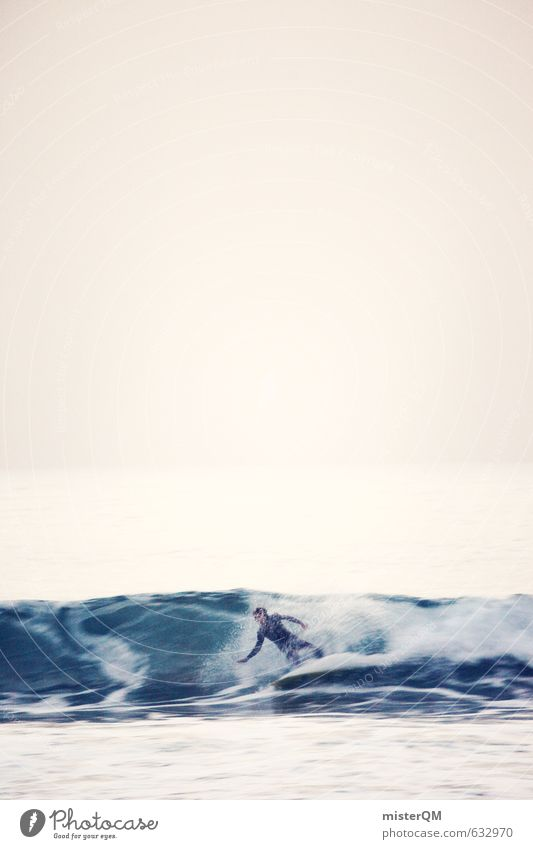 I.love.FV L Art Esthetic Contentment Waves Surfer Surfing Freedom Extreme sports Ocean Surfboard Wetsuit Elements Water Colour photo Subdued colour