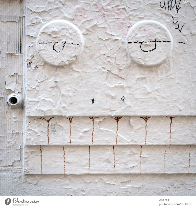 White Joy Face Graffiti Wall (building) Funny Wall (barrier) Exceptional Bright Lifestyle Cool (slang) Facial expression Trashy Whimsical Subculture