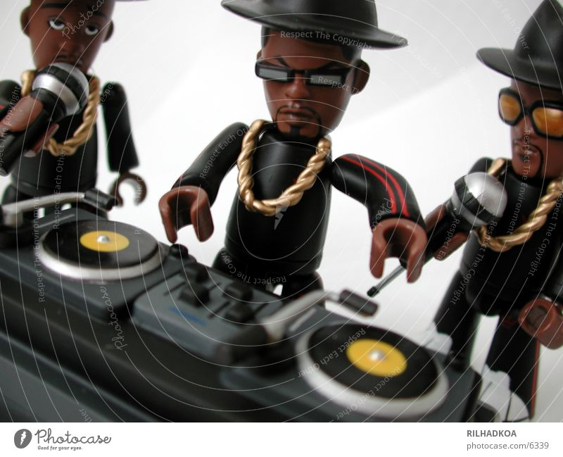 White Red Joy Music Black To talk Crazy Good Plastic Toys Hat Make Figure Disc jockey Brash