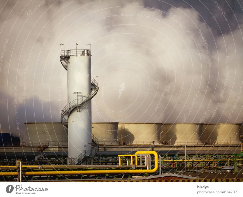 chemical sector Industry Climate change wesseling North Rhine-Westphalia Industrial plant Smoking Threat Stress Risk Environmental pollution Air pollution