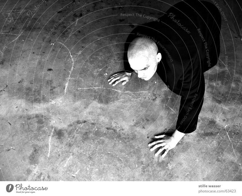 NOSFERATU Crawl Vampire Nosferatu Dracula Whimsical Avaricious Bald or shaved head Coat Concrete Cold Black & white photo Blood almost bald