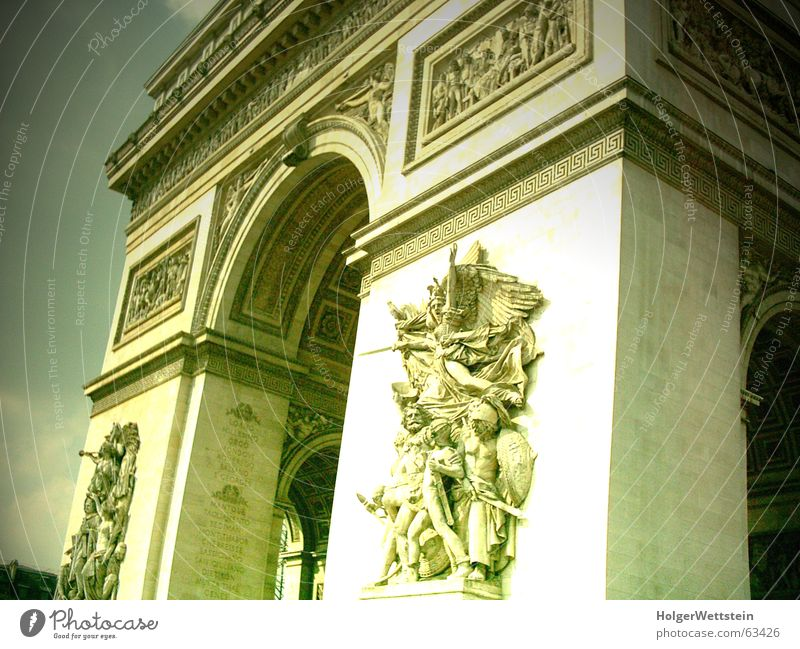 Paris - Arc de Triomphe Culture Art Might Statue Ornament Monument Tomb Place Charles de Gaulle champs elysés France Tourist Attraction Arch Napoleon 1806 1835