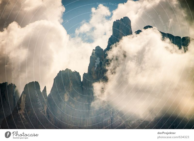 Nature Plant Summer Clouds Mountain Environment Emotions Rock Tourism Power Authentic Dangerous Point Italy Beautiful weather Elements