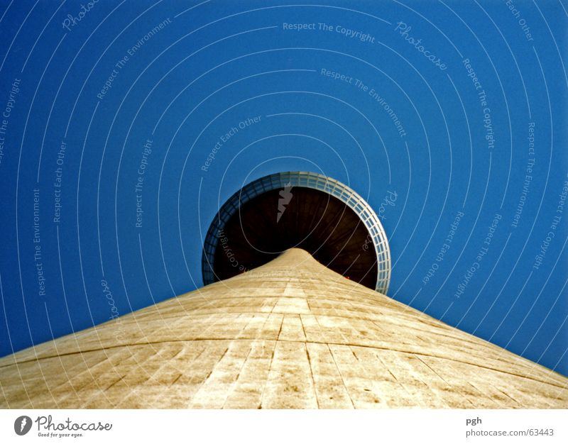 High up Worm's-eye view Cologne Tower television tower Perspective Sky Blue