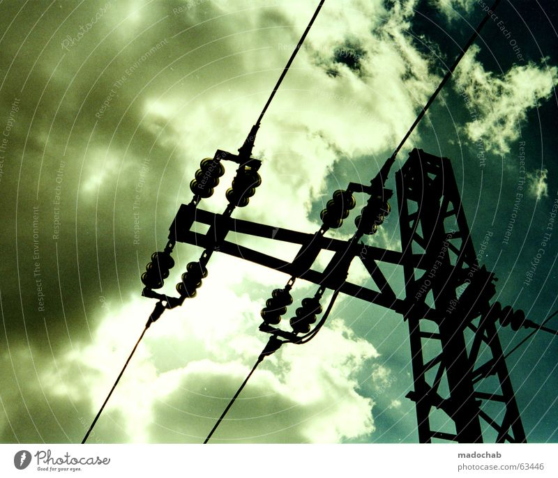 READY | energy energy power electricity sky sky heaven White Black Summer Electricity Forwards Aspire Nature Industrial district Overhead line Railroad Gale