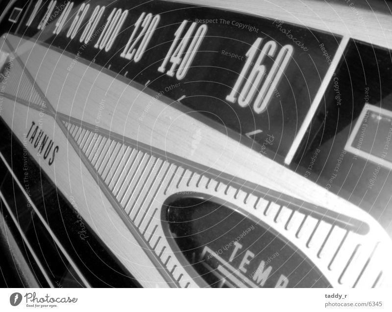 Transport Vintage car Black & white photo Speedometer