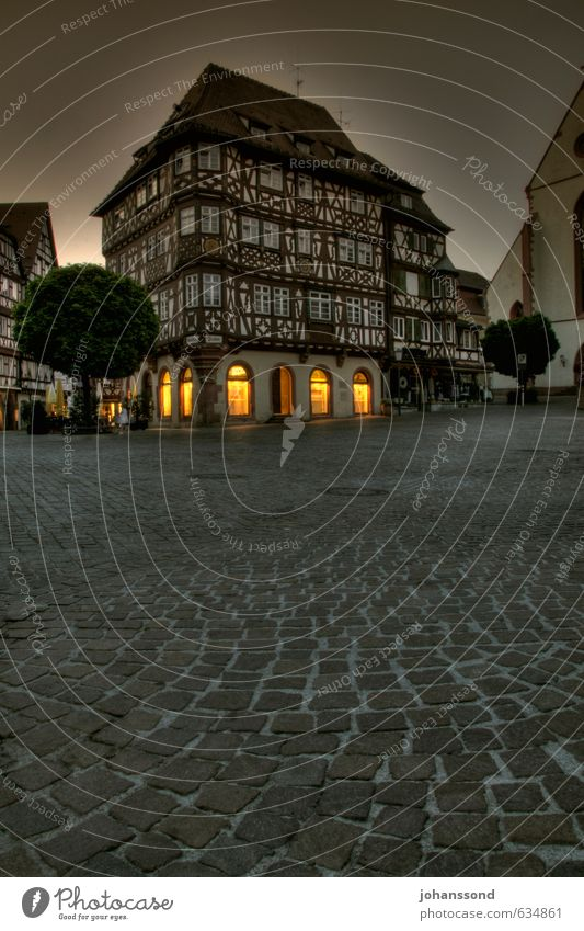 Mosbach Old Town Shopping Tourism Sightseeing City trip Germany Small Town Downtown Old town House (Residential Structure) Marketplace Half-timbered house