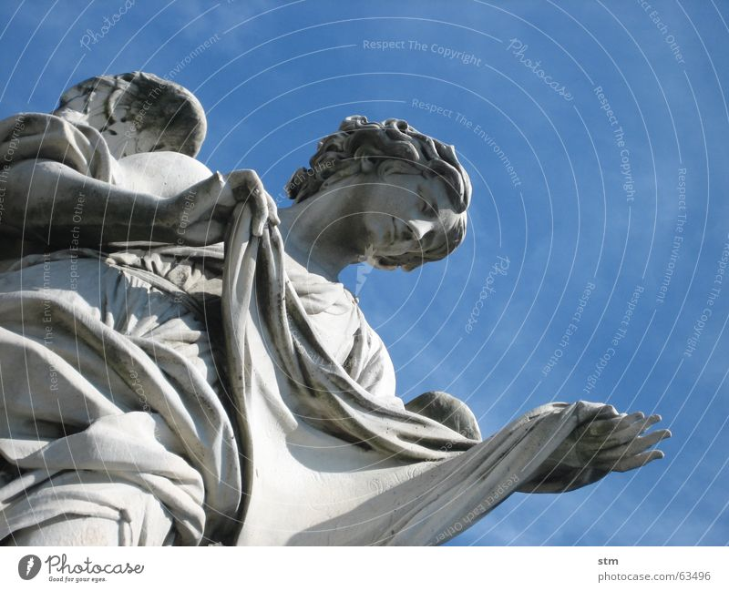 Stone Angel Rome Statue Sculpture Ponte Sant'Angelo
