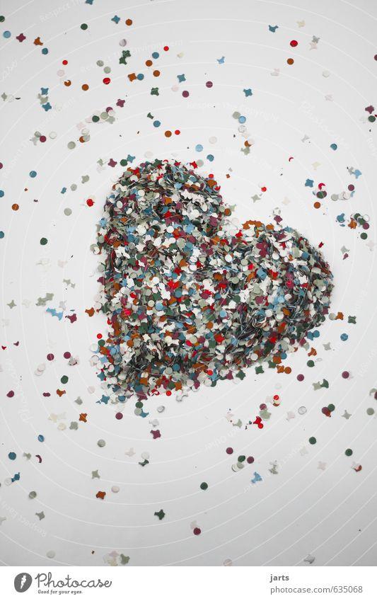 comes from heart Heart Joy Happy Happiness Love Infatuation Romance Confetti Colour photo Multicoloured Interior shot Studio shot Deserted Copy Space top