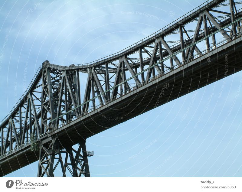 Sky Gray Railroad Bridge Steel