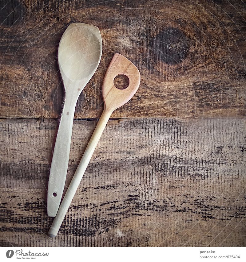 industrious Nutrition Crockery Spoon Nature Wood Esthetic Healthy Culture Pure Senses Trust Wooden board Wooden spoon Stir Cooking Rustic Quaint Nostalgia