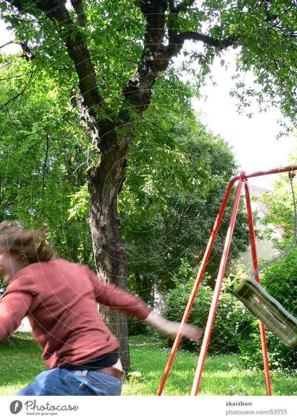 Green Tree Summer Joy Playing Lanes & trails Movement Jump Funny Leisure and hobbies Action Wing Swing Playground Scaffold Partially visible