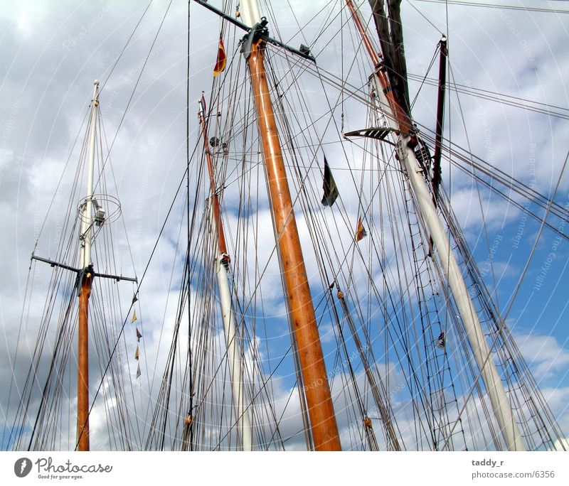 rig Sailing ship Navigation Sky Above Tall Electricity pylon