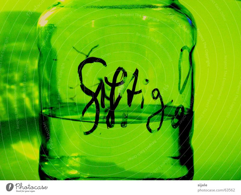 Green Black Yellow Glass Dangerous Protection Clarity Fluid Transparent Warning label Poison Chemistry Disastrous Handwriting