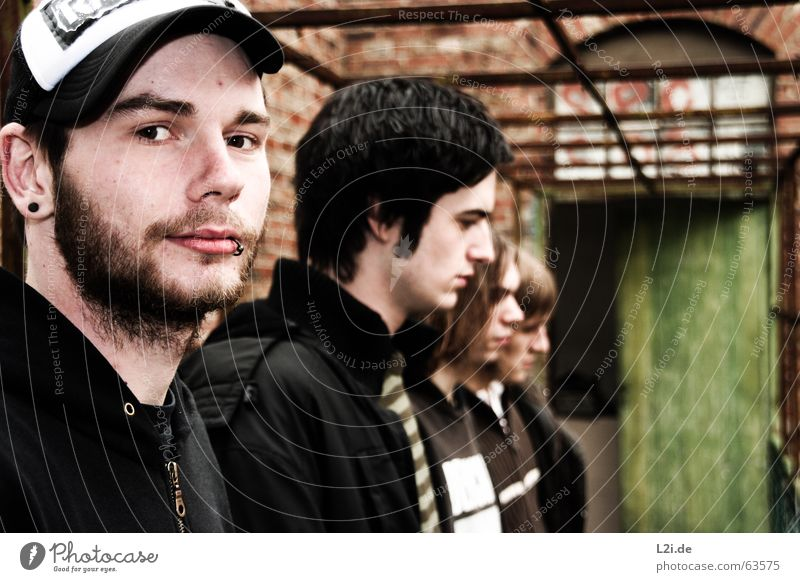 ME AGAINST ORDER - THE FLA FLA GANG Hardcore Man Facial hair Cap Piercing House (Residential Structure) Passage Think Punk String Multiple boy Face Eyes Ear