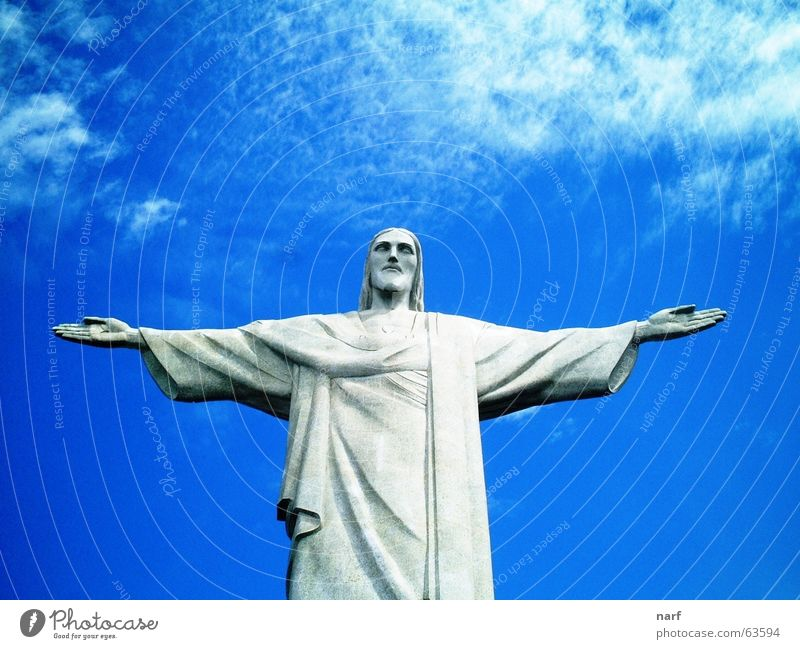 Christ the Redeemer Brazil Jesus Christ Blue sky São Paulo sculpture clouds arms wide open christ the redeemer