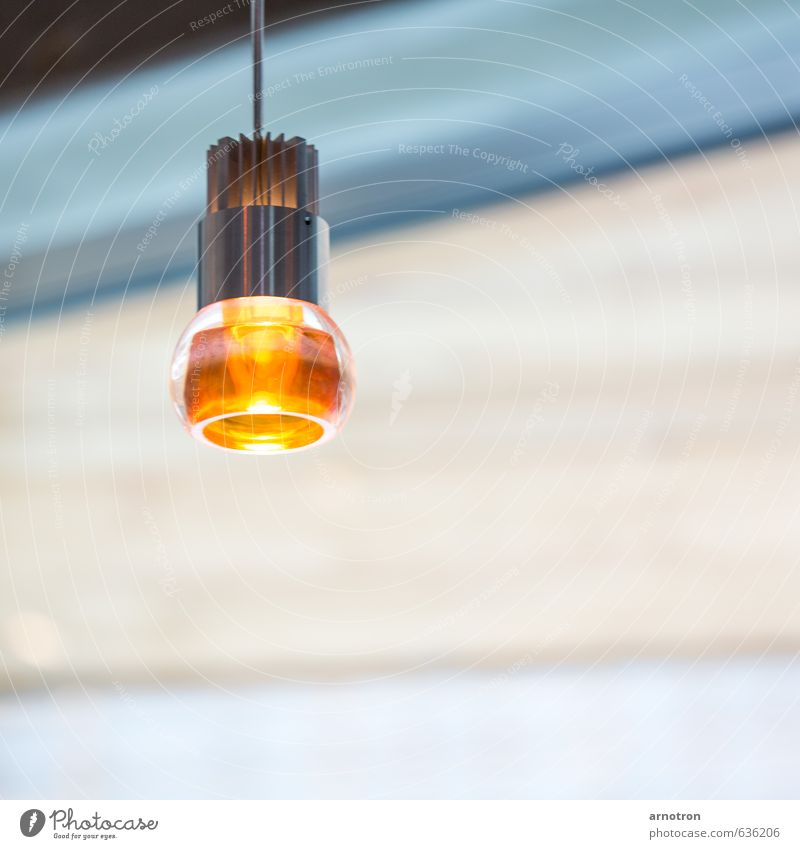 Amber light - IGS 2013 House (Residential Structure) Lamp Deserted Building Metal Gold Hang Illuminate Yellow Orange Turquoise Electric bulb Colour photo