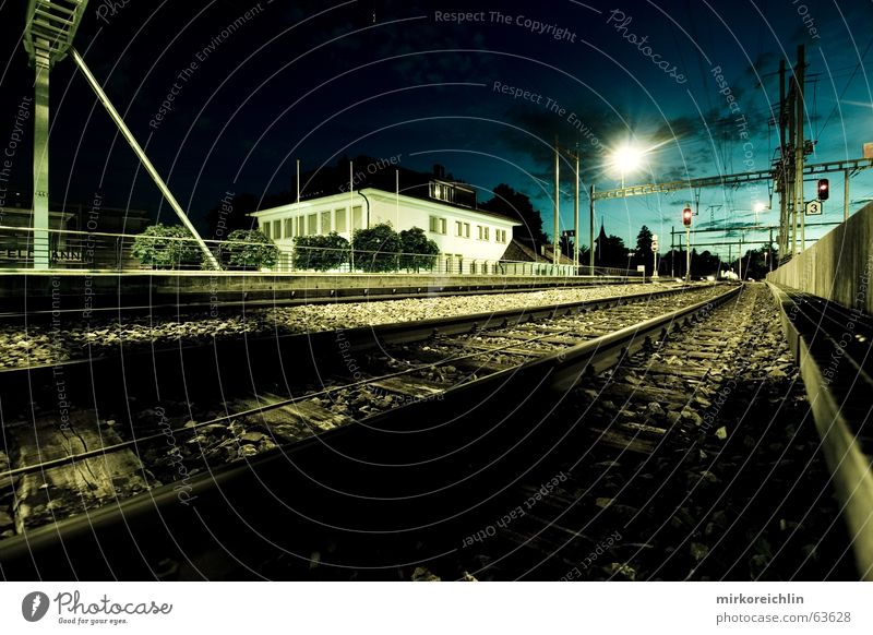 House (Residential Structure) Clouds Dark Railroad Long Railroad tracks Americas Moon Train station Exposure Eerie