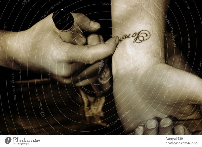 Sunni Beer Hand Fingers Tattoo sonya sunny Arm Black & white photo atreyu Jeans Drinking