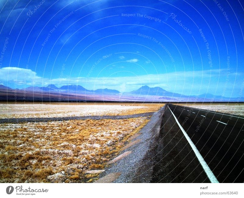 To the infinite and...beyond! Dessert Chile Salar de Atacama road Highway sunny lonely