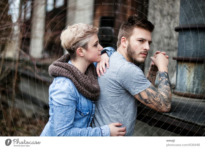 she & he Masculine Feminine Young woman Youth (Young adults) Young man Friendship Couple 2 Human being 18 - 30 years Adults Hip & trendy Beautiful Uniqueness
