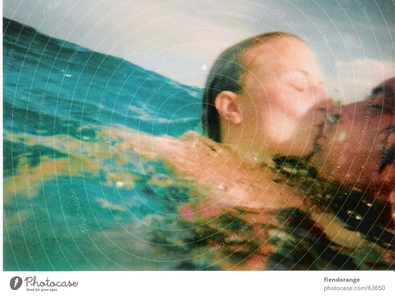 overwaterlove Ocean Kissing Wet Diagonal Lake Pond Longing Rescue Turquoise Water Love Hair and hairstyles Ear Shoot titanic Blue Salt Lovers