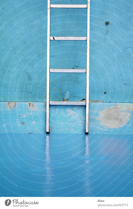 Blue Above Wet Success Tall Stairs Corner Swimming pool Stand Lie Climbing Profession Steel Damp Upward