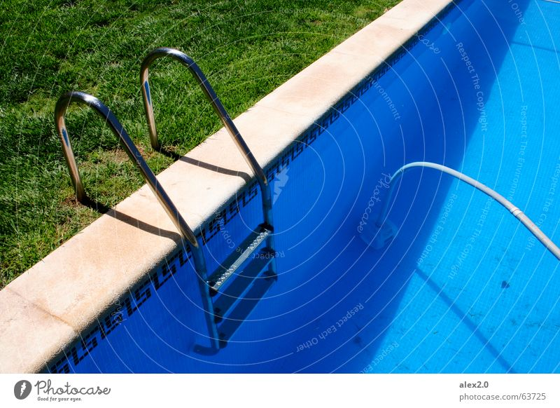 Water Green Blue Calm Loneliness Relaxation Grass Brown Fresh Stairs Lawn Swimming pool Hotel Footbridge Spain Ladder