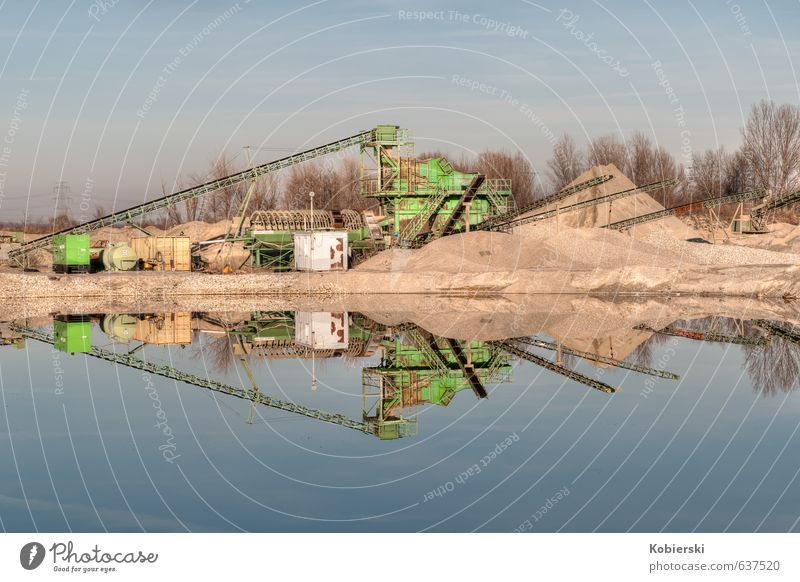 small gravel plant Gravel plant Construction site Business Company Construction machinery Conveyor belt Sand Industrial plant Architecture Stone Water