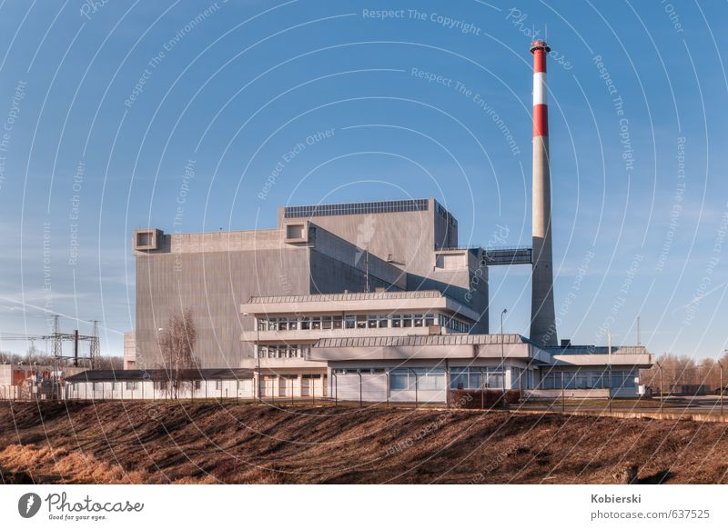 Zwentendorf nuclear power plant Workplace Energy industry Nuclear Power Plant Architecture Exceptional Large Blue Brown Gray Fear Stress Threat