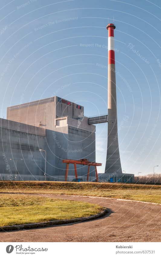 Zwentendorf nuclear power plant Environment Climate change Industrial plant Architecture Nuclear Power Plant Chimney Concrete Steel Old Famousness Blue Gray