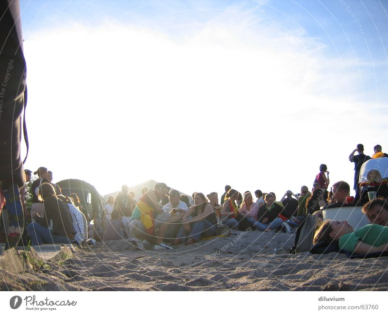 Human being Sky Sand Party Feasts & Celebrations Together Multiple