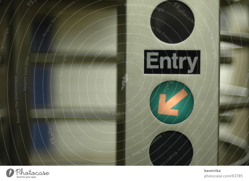 Lamp Door Arrow Gate Underground Entrance Way out Numbers London Underground