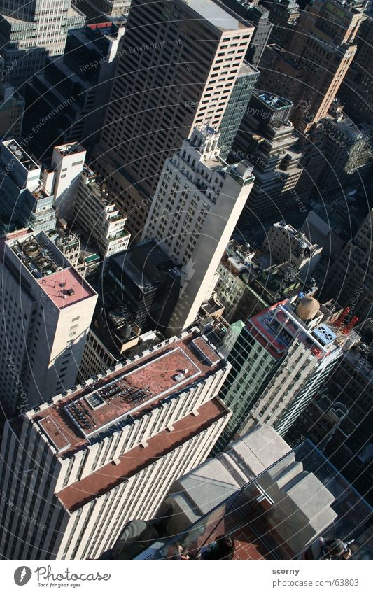 Deep insights New York City High-rise Bird's-eye view To fall Building high angle rockafeller center Sudden fall