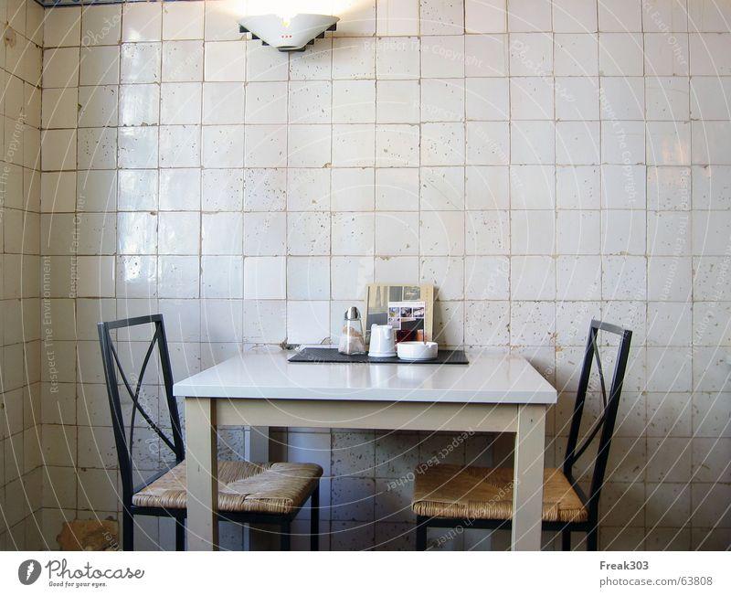 Graffiti Table Chair Tile Café Cozy Ashtray Menu Quaint