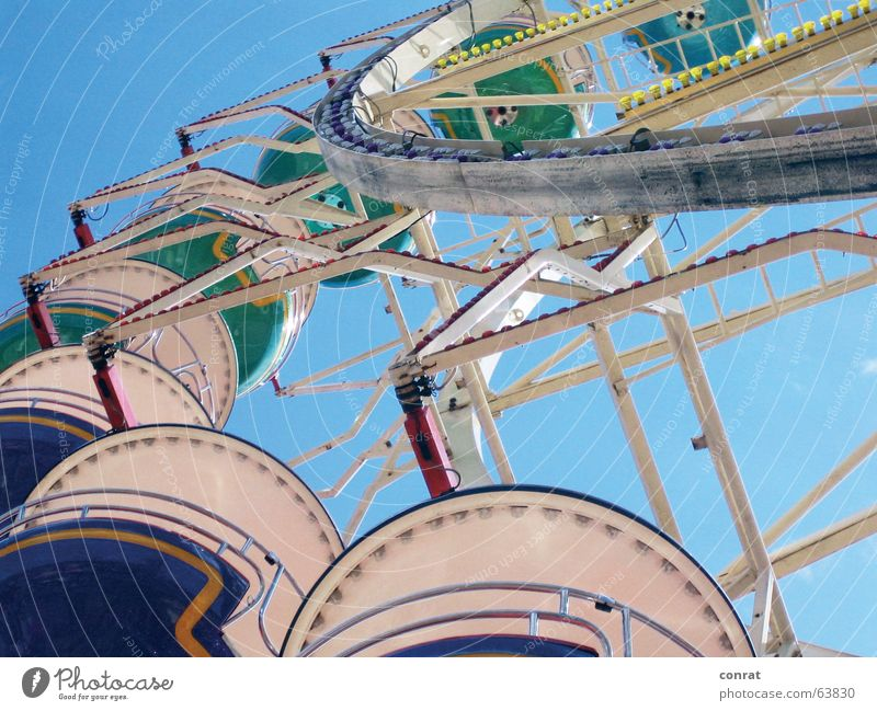 Herring days Ferris wheel Fairs & Carnivals Summer carousel Blue sky Sun in Kiel
