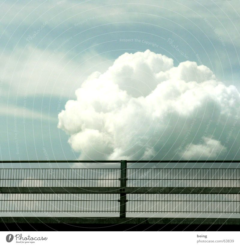 behind bars - the cloud prison Clouds Hurricane Whirlwind Grating Handrail Banister Bridge railing Thunder and lightning Sky Boredom storm cloud 7