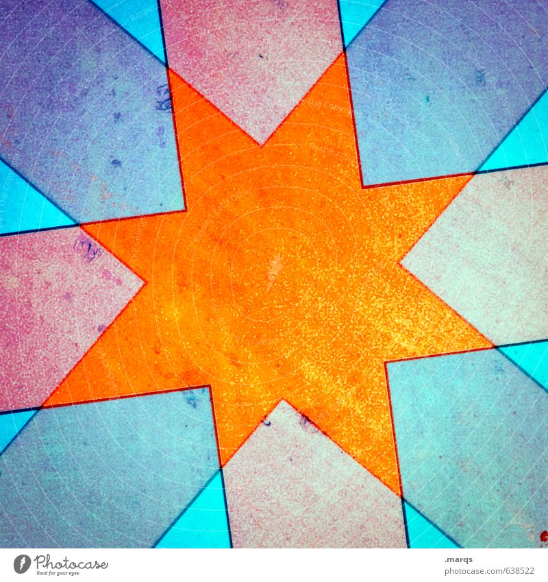 Be my Star Lifestyle Elegant Style Design Metal Sign Star (Symbol) Illuminate Exceptional Cool (slang) Bright Hip & trendy Uniqueness Crazy Blue Orange Red