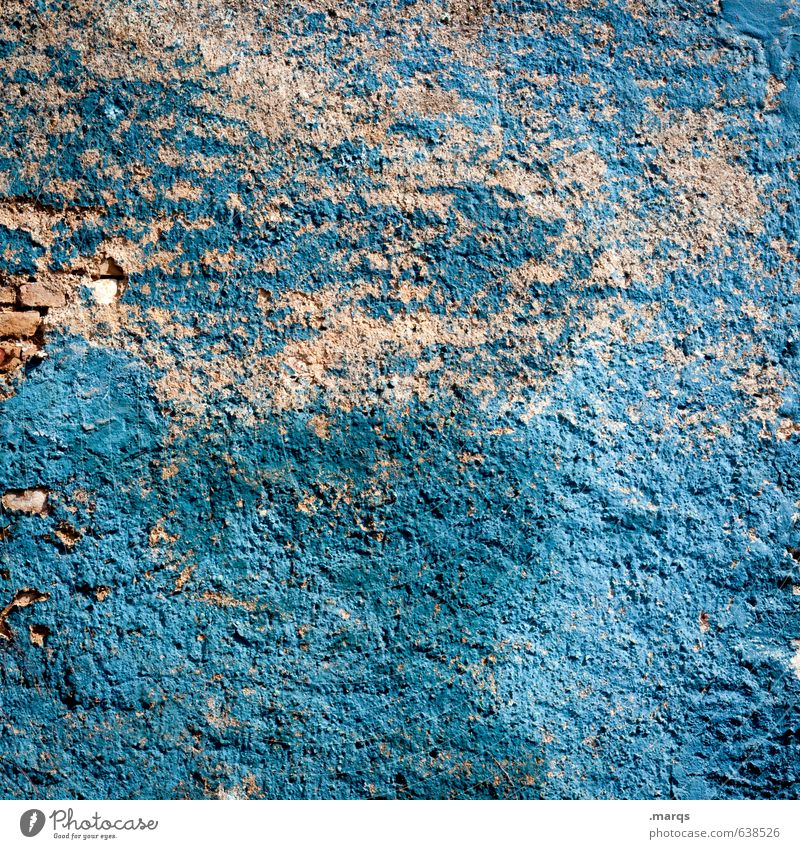 blue wall Style Wall (barrier) Wall (building) Old Broken Blue Colour Decline Change Colour photo Exterior shot Pattern Structures and shapes Deserted